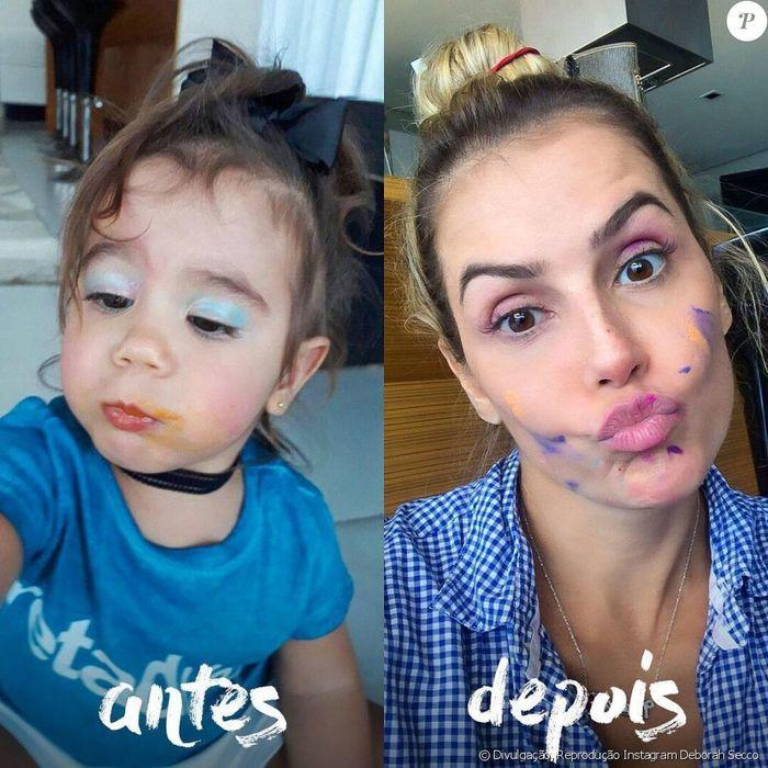 Emilly comenta foto de Debora Secco e é ignorada pela atriz