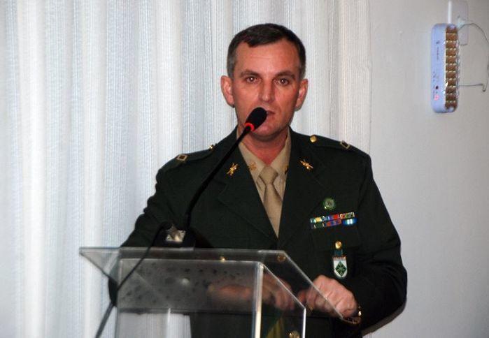 Subtenente Vitélio Oliari, comandante do TG de Parnaíba.  (Crédito: Kairo Amaral)