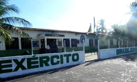 Tiro de Guerra de Parnaíba, na avenida São Sebastião.  (Crédito: Divulgação )