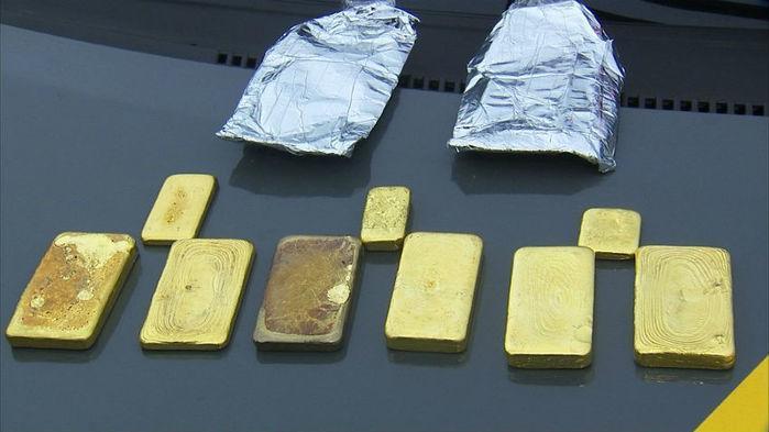 Barras de ouro apreendidas (Crédito: Reprodução)