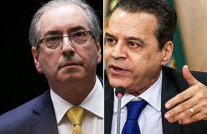 Eduardo Cunha e Henrique Eduardo Alves, alvos de operação que investiga desvios na Arena das Dunas