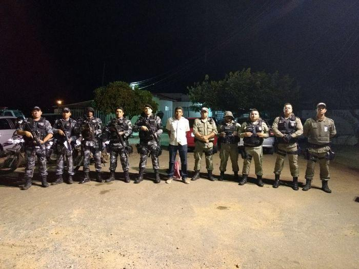 Ronilson Santana Caldas preso em Paulistana (Crédito: Divulgação)