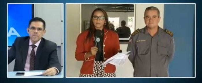 Tenente-coronel Jairo Xavier no Agora (Crédito: Rede Meio Norte)