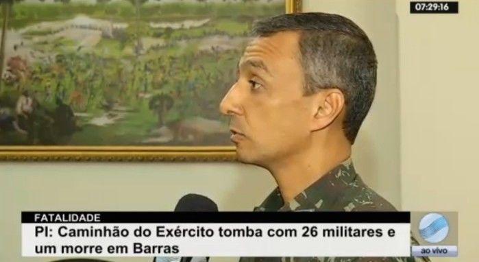 Comandante Alessandro da Silva fala sobre acidente (Crédito: Reprodução/TV Meio Norte)
