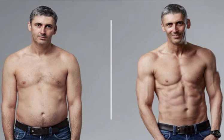 Homem de 45 anos entra em forma em apenas 3 meses