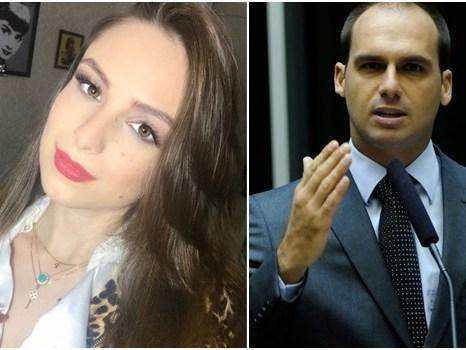 Eduardo Bolsonaro lamenta feminismo de ex-namorada e ganha resposta