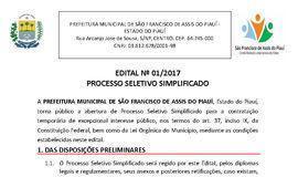 Processo Seletivo tem 33 vagas com salário de até R$10 mil no Piauí