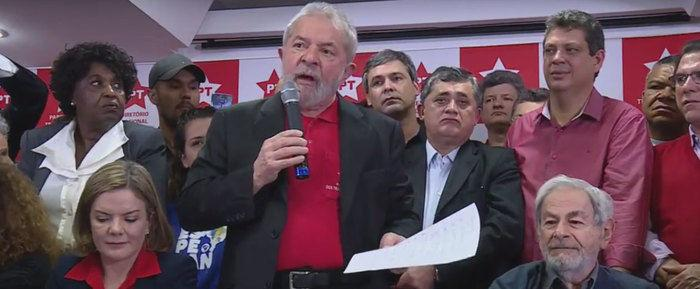 Lula fala pela 1ª vez após ser condenado
