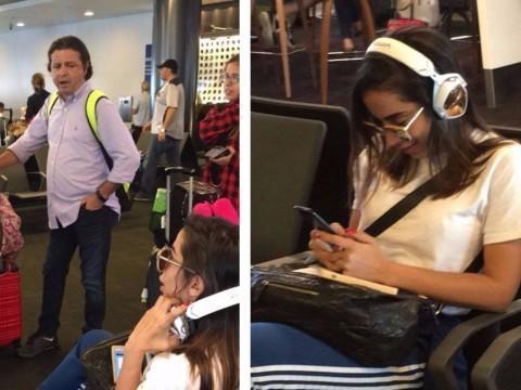 Anitta é tietada por brasileiros nos EUA antes de embarcar
