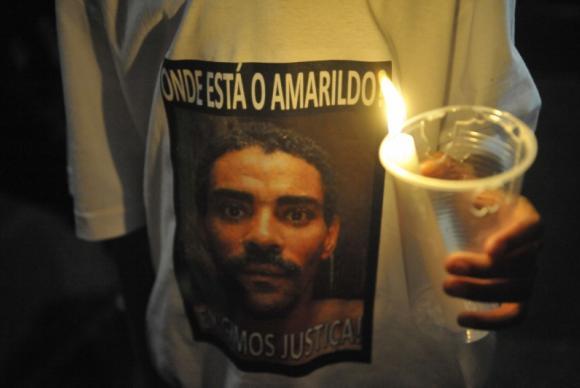 O ajudante de pedreiro Amarildo de Souza foi levado por policiais da UPP da Rocinha no dia 14 de julho de 2013 e nunca mais apareceu (Crédito: Reprodução)