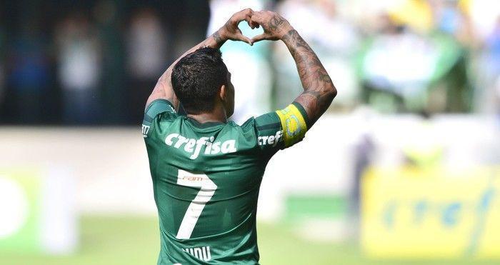 Com dois gols, o atacante Dudu foi o destaque da partida (Crédito: Reprodução)
