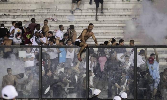 Confusão que aconteceu em São Januário (Crédito: Reprodução)