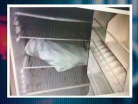 Pais divulgam foto de corpo de bebê em frigobar na Evangelina Rosa