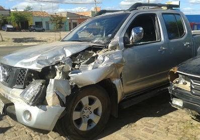 Veículo ficou bastante danificado (Crédito: Fredsonpaivareporter)