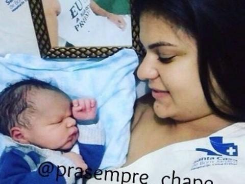 Nasce filho de jogador morto no acidente aéreo da Chapecoense