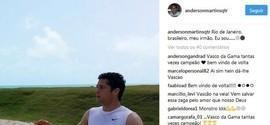 Com letra de samba, Anderson Martins anuncia volta ao Vasco