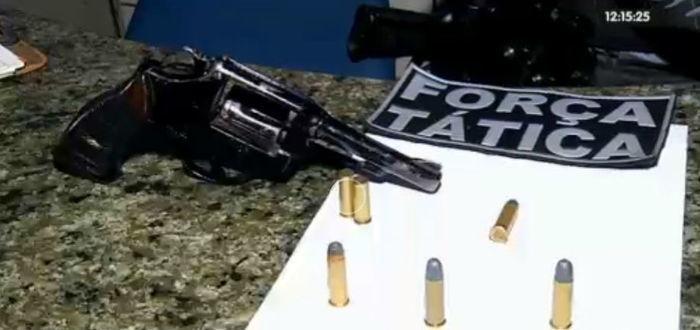 Arma usada durante o crime (Crédito: Rede Meio Norte)