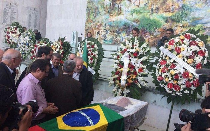 Ex-presidentes Lula e Dilma e diversos ex-ministros participam do velório (Crédito: Reprodução)