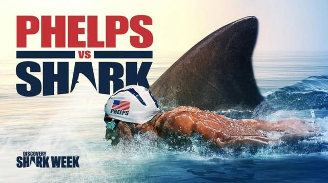 Phelps se defende por simulação em prova contra tubarão