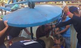 Acidente com brinquedo em parque de diversões deixa 11 feridos
