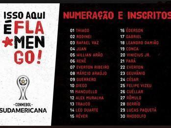 Lista de inscritos do Flamengo (Crédito: Reprodução)