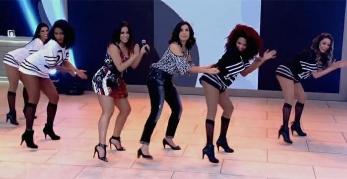 'Fátima fez a coreografia  de Bang com Anitta