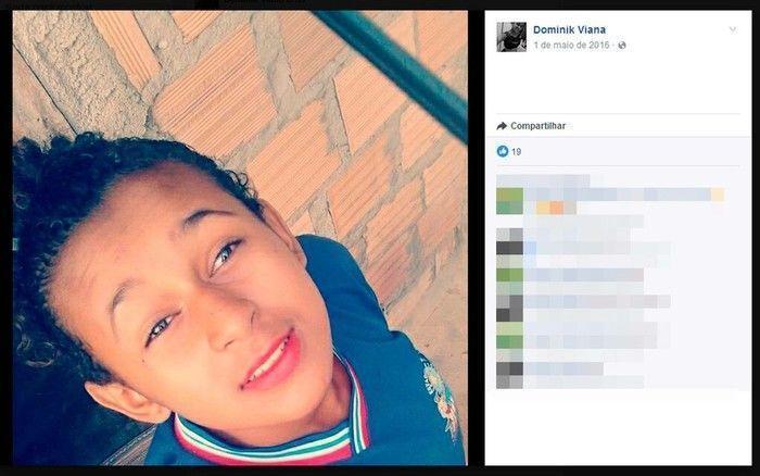 Dominique Miranda Viana foi golpeada no pescoço e peito (Crédito: Reprodução)
