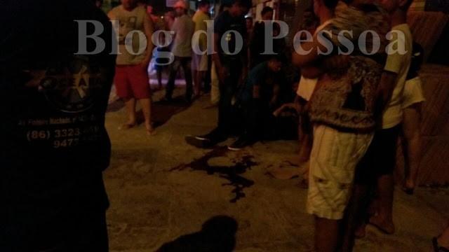 Policial foi atingido na perna (Crédito: Blog do Pessoa)