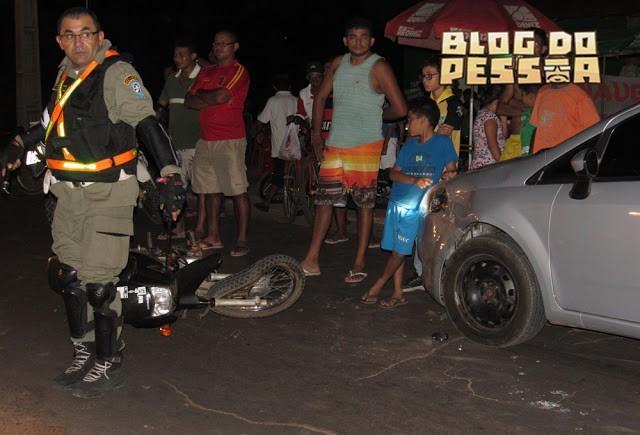 Motorista tenta desviar de buraco e colide com moto na PI 116