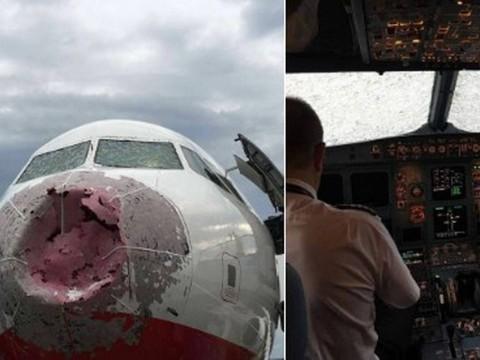 Granizo destrói avião e faz piloto pousar com 'zero visibilidade'