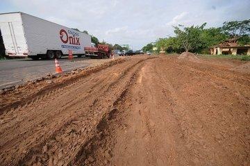 A obra está com 30% da terraplenagem feita e 11% da obra total realizada (Crédito: Francisco Leal)