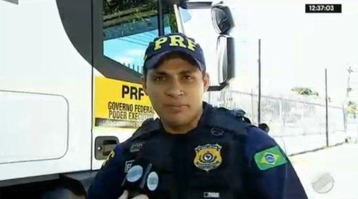 Jonas Mata, da Polícia Rodoviária Federal  (Crédito: Rede Meio Norte)