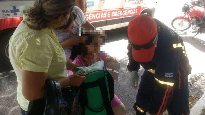 Avó do acusado também sofreu ferimentos (Crédito: Kairo Amaral)