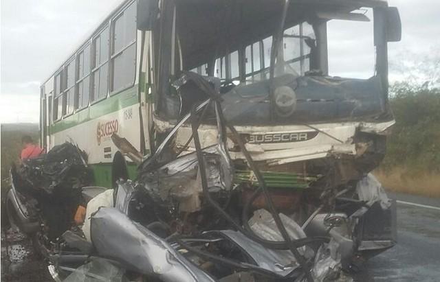 Grave acidente na BR-222 em Ubajara, no Ceará (Crédito: Divulgação)