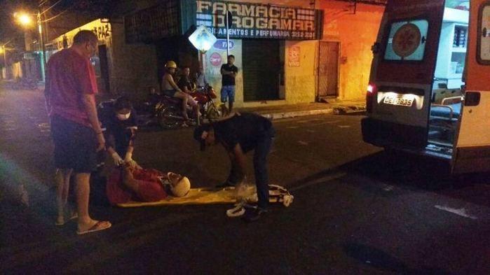 Acidente deixa homem ferido no centro de Campo Maior