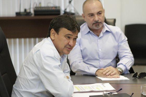 Governador Wellington Dias recebe deputado estadual, Henrique Rebelo