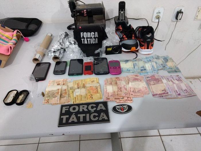 Material apreendido com os três suspeitos em Fronteira (Crédito: Divulgação)