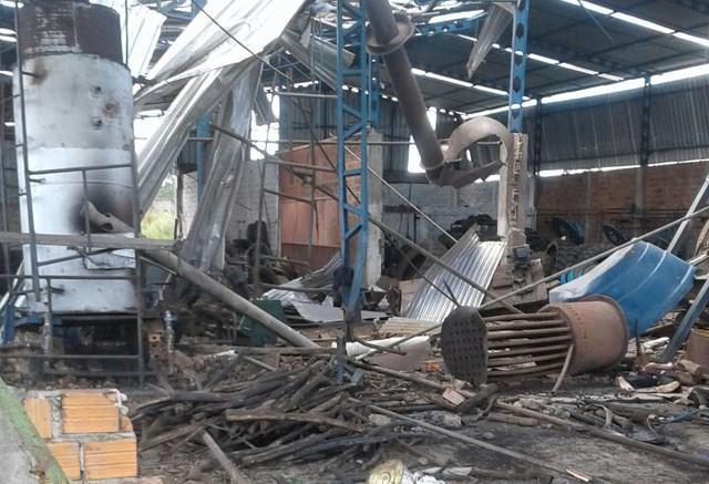Local onde ocorreu a explosão (Crédito: Reprodução)