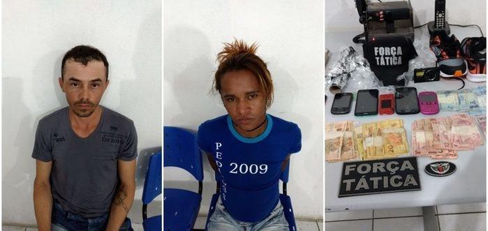 Traficantes foram presos em flagrante (Crédito: Reprodução)