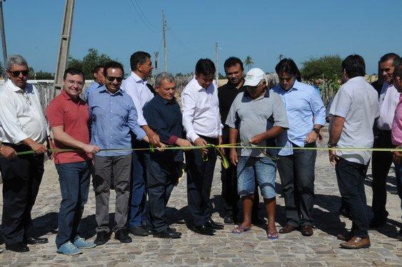 Governador Wellington Dias entrega obras de mobilidade no litoral (Crédito: Paulo Barros)