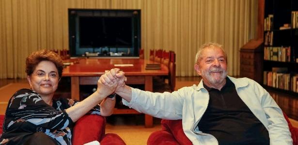 Os ex-presidentes petistas Dilma Rousseff e Luiz Inácio Lula da Silva