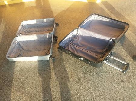 Droga estava dentro de duas malas (Crédito: PRF-MA/Divulgação)
