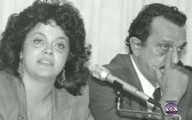 Dilma e o ex-marido Carlos Araújo (Crédito: Arquivo RBS TV)