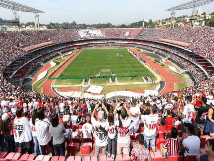 Público recorde durante o jogo entre São Paulo e Cruzeiro (Crédito: Globoesporte)