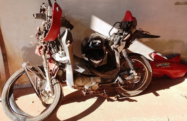 Motocicleta que era utilizada pela vítima (Crédito: Reprodução)