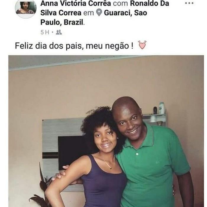 Anna postou foto com o pai no mesmo dia em que foi morta por ele (Crédito: Reprodução/ Instagram)