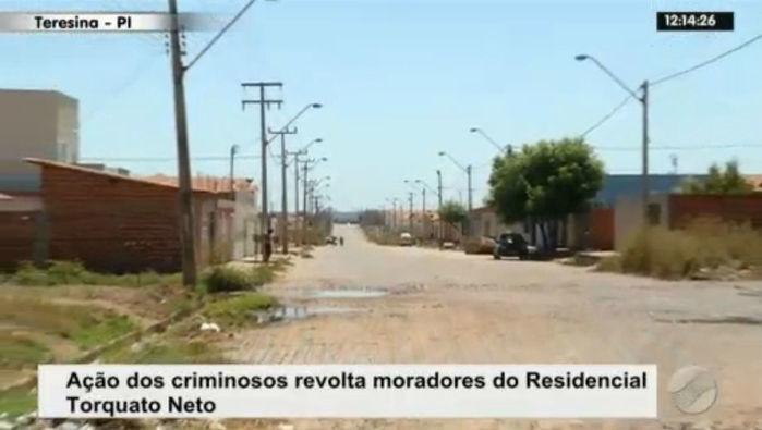 Onda de assaltos no Torquato Neto assusta moradores e comerciantes (Crédito: Rede Meio Norte)