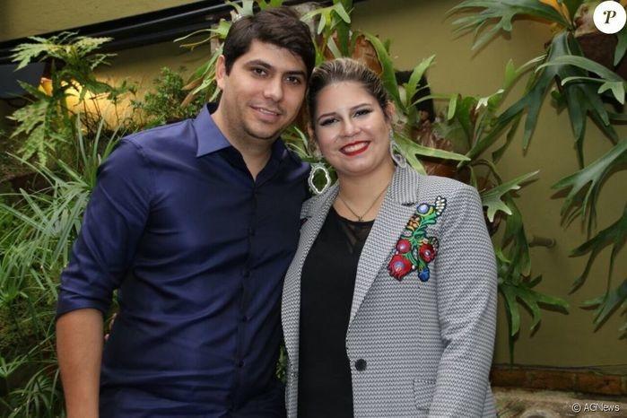 Marília Mendonça e o noivo (Crédito: AGNews)