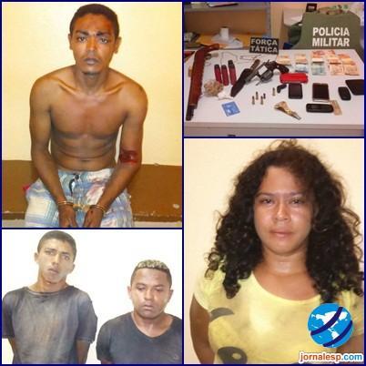 Quadrilha suspeita de assaltar a agência dos Correios é presa (Crédito: Jrn)