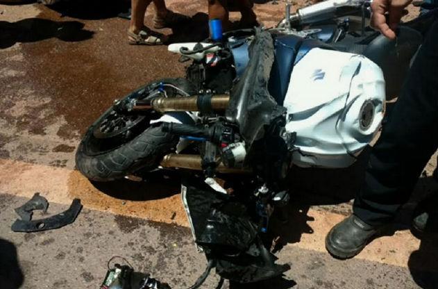 Veículo ficou destruído após o acidente na BR-222 (Crédito: TV Verdes Mares)